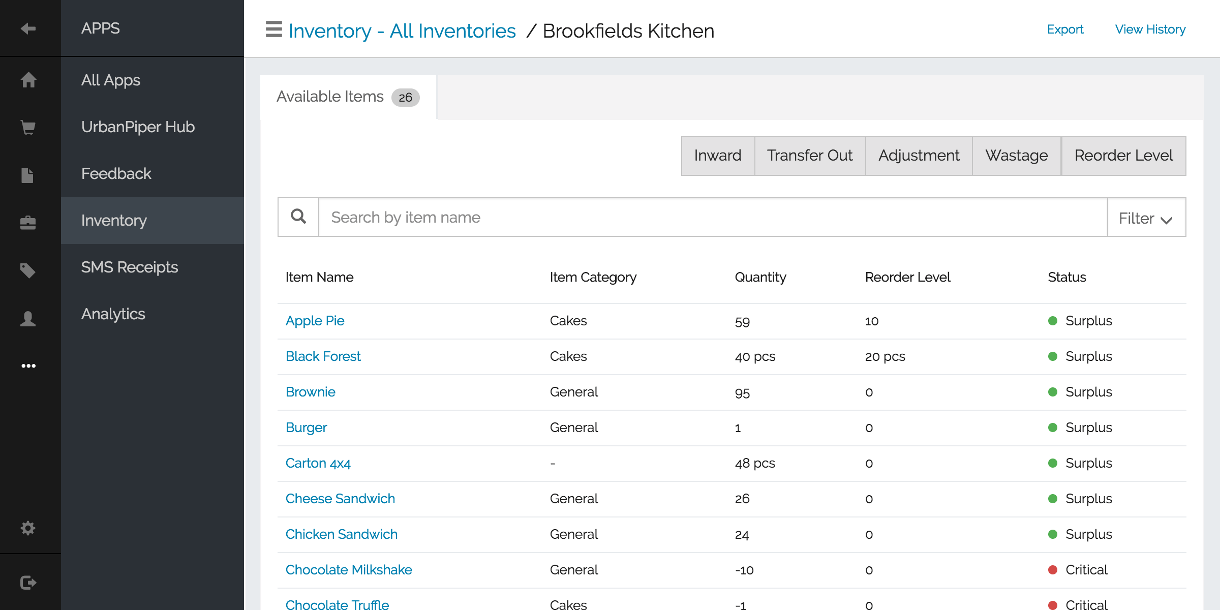 Inventory and Recipe Management
