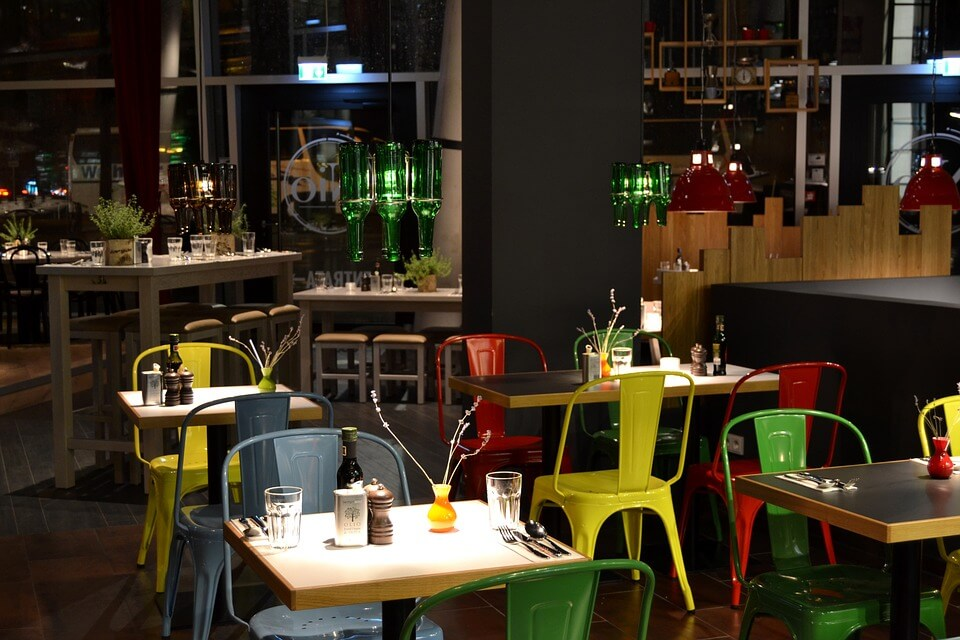 Colour scheme in a restaurant