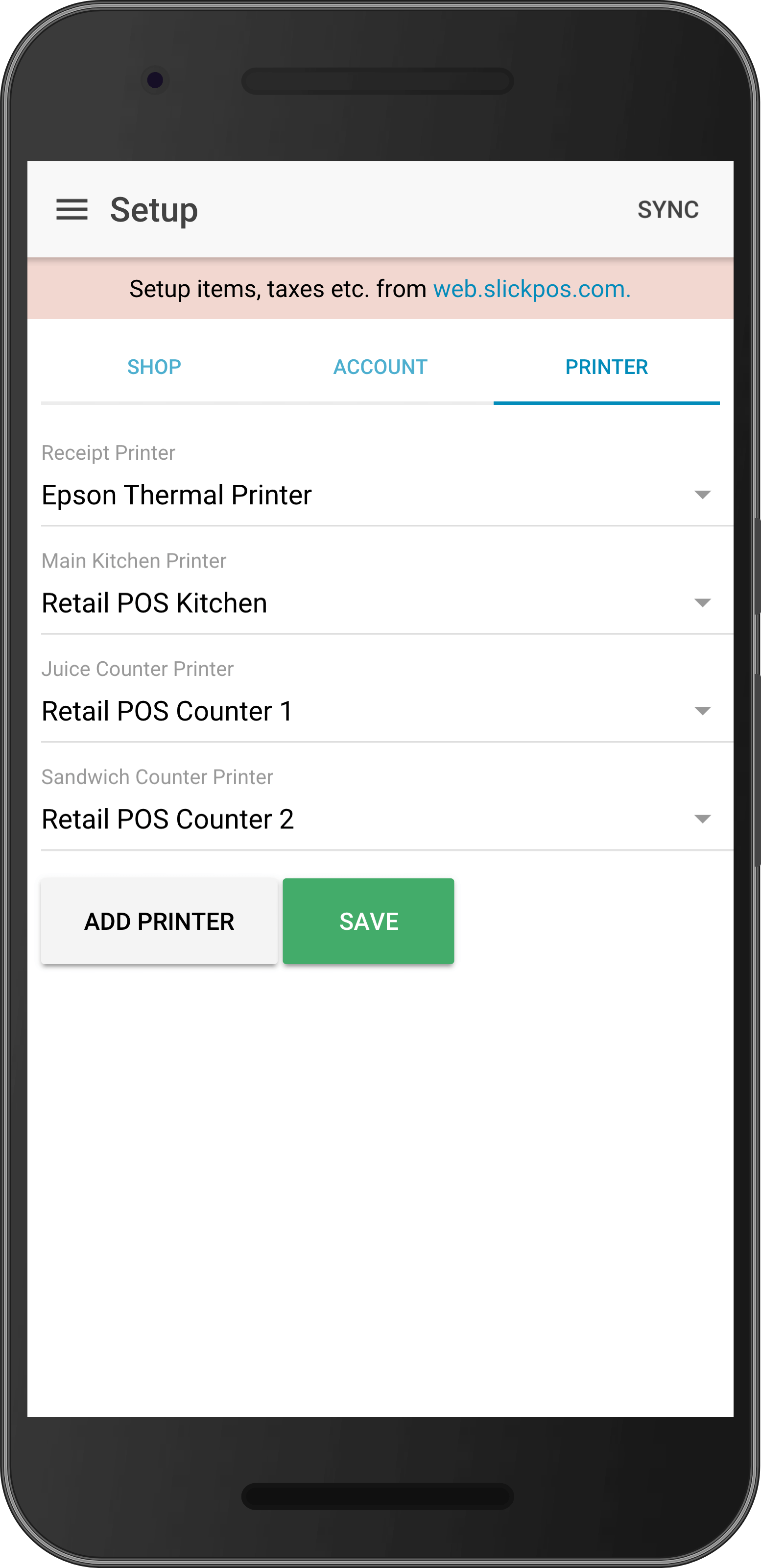Bluetooth and Wifi KOT printer setup
