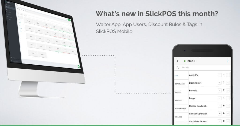 SlickPOS Waiter App Launched