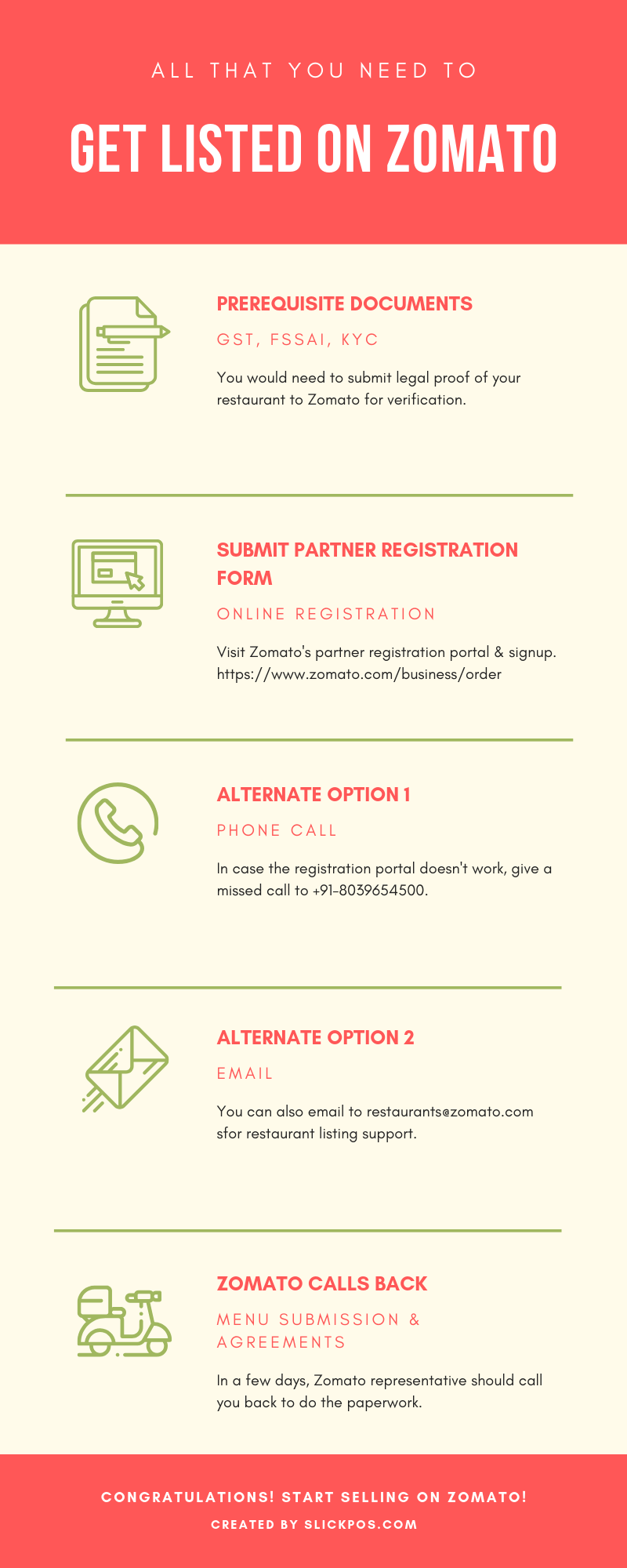 Zomato Partner Registration Process